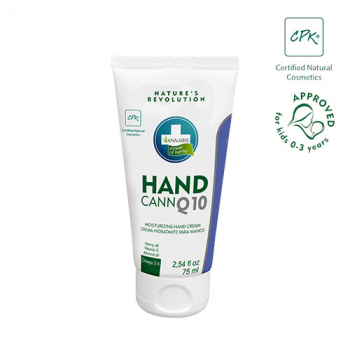 HANDCANN certified natural hand cream with Q10, hemp seed oil and beeswax