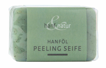 Hemp oil soap with peeling effect from hemp seeds