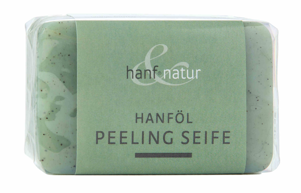 Hemp oil peeling soap with hemp seed hulls from hanf&natur